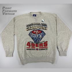Vintage New 1994 San Francisco 49ers Super Bowl XXIX Champions Starter Crewneck Sz XL