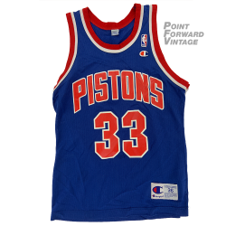 Vintage Grant Hill Champion Detroit Pistons Jersey Sz 36 (Small)